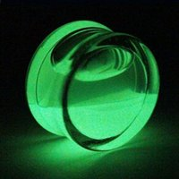 Wholesale Ear Plugs Glow Dark - 2 PCS Piercing Glow In Dark Acrylic Ear Plugs Tunnel Flesh Expander Plugs and Tunnels Ear Plug Piercing Body Piercing Jewelry