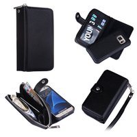 Wholesale Galaxy S4 Magnet Case - Fo Samsung Galaxy S3 S4 S5 S6 S6 EDGE S7 S7 EDGE NOTE 4 NOTE 5 2 in 1 Magnet Wallet Leather Zipper Money Pocket Photo Frame case 1pcs lot
