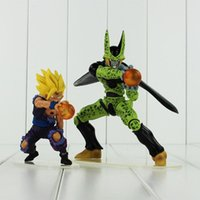Wholesale Wholesale Dragon Models - EMS Anime Dragon Ball Cell Son Gohan PVC Action Figure Collectable Model Toy for kids gift free shipping