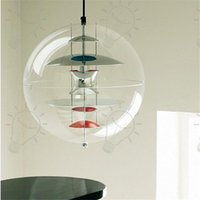 Wholesale Verner Panton Vp Light - Italy Modern Verner Panton VP Globe Pendant Light Suspension Pendant Ceiling Light Chandelier Dining room Lamp Lighting Fixture Dia 40CM