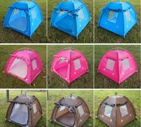 Wholesale Large Camping Tents - Free shipping Foldable Dogs Cats Tent House Pets All Seasons Dirt-resistant Outdoor Camping Home Travel House Pet Tent