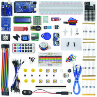 Wholesale Jumpers Kit - Freeshipping Kit for Arduino Uno with Mega 2560 LCD 1602 HC-SR04 Dupont Line Jumper Wires Sensors LED + Plastic Box