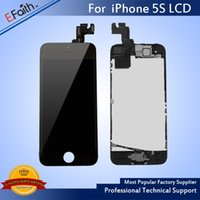 Hot item-Wholesale-Para iPhone 5S Completo Completo LCD preto com digitalizador Bezel Frame + Home Button + Front Camera Full Assembly Free Shiping