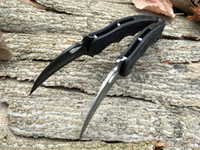 Wholesale fox tactical gear - OEM Fox claw karambit G10 handle folding knife survival outdoor gear pocket knife hunting knife free shipping Trainer and Sharp are avaiable