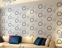 Wholesale Wall Decals Circles - 3d Circle Design Wallpaper Bubble DIY Wall Sticker Wallpaper Stickers Art Decor Mural Kid's Child Room Decal