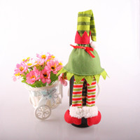 Wholesale Christmas Socks Decorate - Spirit Wave Red Wine Bottle Bag Multi Function Christmas Home Furnishing Decorate Articles Non Woven Fabric Bottles Sleeve 3 55sn J R