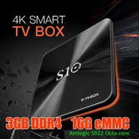 Wholesale Chip Box Freeshipping - 4K Moviebox TV S10 Android7.1 OS TV Boxes S912 chip Octa Core 3GB DDR4 16GB ROM android-tv-box KDplayer17.3 installed BT4.1 AC dual WIFI