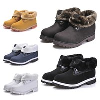 Wholesale Cheap Fur Heeled Ankle Boots - Cheap Men & Women Winter Snow Solid Warm Ankle Boots 2017 Authentic Brand New Classic Fashion Work Hiking Shoes For Outdoor Casual Sneaker