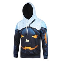 Wholesale Mens Long Coat Pattern - Halloween 3D Printed Mens Hoodies New stylish Autumn Winter Pullover Sweatshirts Hot sale item men coat hoodies