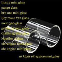 moteur v12 achat en gros de-Ijust 2 mini pangu brit one Ijoy maxi v12 melo 300 griffin 25 plus nautilus 2 obs moteur nano réservoir rta Pyrex remplacement tube de verre