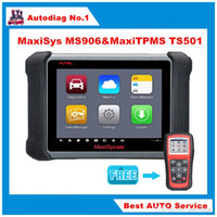 "Wholesale Vehicle Battery Connector - 2016 New Diagnostic Tool Autel MaxiSYS MS906 8"" Android 4.0 System Bluetooth WIFI with TS501 Scanner Vehicle Diagnostic Tools"