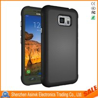 Wholesale Shock Defender - For Samsung Galasy S7 Active Shock Absorbent Armor Dual Layer Hard PC Cover + TPU Inner Case Hybrid Defender Protective cases