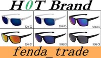 Wholesale Uv Coloured Sunglasses - summer newest men Bicycle Glass NICE sports sunglasses riding driving sunglasses woman UV Cycling Dazzle colour glasses A+++ 9246 MOQ=10