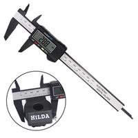 Wholesale caliper tools - Digital Caliper 150mm 6 inch LCD Digital Electronic Carbon Fiber Vernier Caliper Gauge Micrometer Measuring Tool