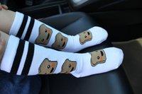 Wholesale Dog Swan - Unisex Baby Girl Boy kids Cartoon knee high Cute Cartoon Socks Dog Milk Swan Knit Leg Warmers Kawaii Socks Cotton Children Sock A7184