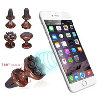 Wholesale Gps Box Packing - Universal Adjustable Magnetic Sucker Car Air Vent Holder 360 Degree Rotation Stand Mount For GPS Mobile Cell Phone Box Packing