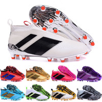 Wholesale Cheap Soccer Cleats Free Shipping - 2017 Cheap Wholesale ACE 16+ PureControl FG 2016 NEW Men's Soccer Shoe boots Performance Mens soccer cleats football shoes Free Shipping