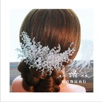 Elegant Crystal Wedding Hair Combs Tiara nuptiale Clear Bling Shiny Jewerly Accessoires pour cheveux Formal Wedding Evening Wholesale Cheap Crown