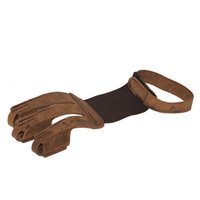 Wholesale finger pulls for sale - Group buy Brown Cow Leather Finger Guard Pull Fingertip Protector for Bow Archery Hunting and Shooting Durable Finger Guard Shooting Gloves