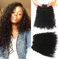 Wholesale Kinky Hair Sale - Factory 7A Brazilian Peruvian Malaysian Indian Human Kinky Curly Hair Natural Color Machine Double Weft 8-28inch On Sale Virgin Human Hair