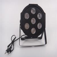 dj mix light venda por atacado-Americano DJ Plano SlimPar Quad 7 RGBW Cor Mixing LED 7x12 W Luz DMX Uplighting Transporte Rápido