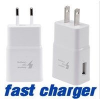 Wholesale Top quality Real fast US EU Wall Charger adapter Adaptive Fast charging for Samsung S7 S7EDGE iphone plus Plug