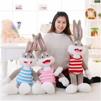 Wholesale Bugs Rabbit - Wholesale- 1pcs 100cm Cartoon Selling Item Plush Bugs Bunny Stuffed Animal Rabbit Kawaii Doll For Kids Soft Pillow For Girls Toy