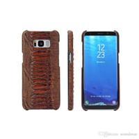 ingrosso pelle ambra-Per Samsung S8 Plus iPhone 7 6S Plus Luxury Amber Pattern pelle bovina PU Custodia in pelle con pacchetto di vendita al dettaglio