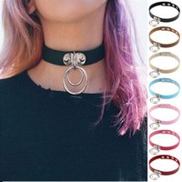 Wholesale asian girl collar for sale - Group buy New simple collar punk neck strap sexy collar sexy collar personality exaggeration chokers girl gift CA091