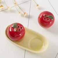 ingrosso vendita mela rossa-Originalità Vaso Utensili da cucina Mini Red Apple Stagionatura Matrimonio Giveaway Baby Full Moon Gift 3 7tz C R