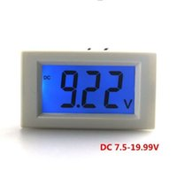 Wholesale Dc Volt Digital Panel Meter - Digital LCD DC 7.5-19.99V Voltage Volt Panel Meter Car Motorcy Battery Monitor