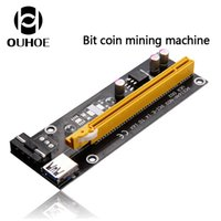 Wholesale Bit coin mining machine Bitcoin Best quality PCI E PCI E Express X to X Riser Card USB Extender Cable with Power Supply for Bitcoin