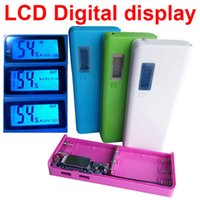 Wholesale Mobile Power Shell - DIY Cell Box Portable External Battery Mobile Phone Charger Power Bank Box Shell 5 x 18650 diy Power bank with LCD Display