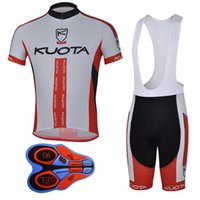 2017 Summer man KUOTA team cycling jersey (bib) shorts sets Ropa de Ciclismo 9D GEL Pad / Breathable / Quick-Dry Bicycle Sportwear A141