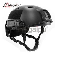 Wholesale Fast Protection One - Magaipu Outdoor Sport Equipment Airsoft Shooting Helmet Head Protection Gear ABS Simple Version BJ Fast Tactical Helmet..