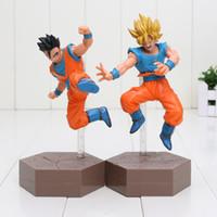 Wholesale Dragonball Z Goku Gohan - 17cm Dragon Ball Z Action Figures Son Goku Super Saiyan Gohan DXF Anime Dragonball Kai Figures Model Toys