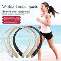 Wholesale Handsfree For Lg - New arrive HBS913 Breakthrough in Bluetooth 4.0 Headset Wireless Headphones Earphone Sound Neckband Handsfree for LG iPhoneX 8 7 6 Samsung