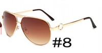 coole wind-sonnenbrille großhandel-Sommerfrauen-Metallrosa, das Sonnenbrillefrauen mirsunglasse Art- und Weisespiegelsonnenbrille fährt Fahrengläser fährt Wind kühlt Sonne freies Verschiffen