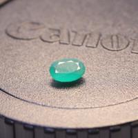 Wholesale Loose Natural Emerald Gemstone - Promotion natural Emerald loose stone 7mm*5mm oval shape 0.7 ct natural Columbia emerald loose gemstone for ring