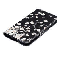 çiçek kartı kutusu tutucu toptan satış-Beyaz Çiçek Cüzdan Kılıf Motorola G4 G4 ARTı Arka Standı Tutucu Kredi Kartı Tutucu Yuvası Telefon Kılıfları