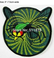 "Wholesale Green Fancy Dress Costumes - 3"" The Green Hornet Sting Movie TV Series Fancy Dress Costume Embroidered iron on patch TRANSFER APPLIQUE"