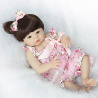 Wholesale Real Doll Materials - Large Real Genuine Reborn Baby Jenny 57 CM 2 KG Taiwan Acrylic Moving Eyes Silicone Material