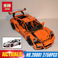 Wholesale Educational Model Car Kits - New LEPIN 20001 technic series super car Model Educational Building Kits Blocks Bricks Boy Toys Compatible 42056 Christmas Model Gifts