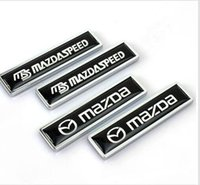 Wholesale Buick Tail - High Quality Zinc alloy Sticker Car Sticker Label Emblem Badge car styling [58x14mm] for MS Mazdaspeed Mazda Peugeot Mitsubishi Buick