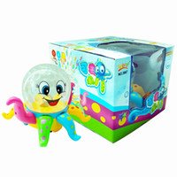 Wholesale Disco Electronics - Lovely Disco cartoon Octopus 3D ligthts universal music kid Early education puzzle toys can Rotate wholesale