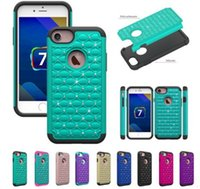 For Apple iPhone case diamante - For Iphone polegada rígido híbrido diamante brilhante capa à prova de choque caso armadura de alto impacto combo pc silicone