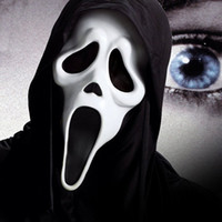 Wholesale Ghost Mask Toys - Halloween Horror Ghosts mask Black Ghost Festival Screaming face Party Vampire mask PVC Full Headgear Wholesale