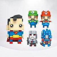 Wholesale Diy Blocks Pcs - Popular 2 pcs set Action Figures Avengers DIY Diamond Building Blocks Anti Autism and ADHD Time Killer Stress Reliever Kids Toys