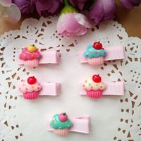 Wholesale Ice Cream Clips - 30pcs lot Kids Hair Accessories Baby Girls Hair Clips Cartoon Ice cream Styles Clamp Clip Princess Hairpins Barrettes