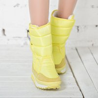 Wholesale ladies green ankle boots - Wholesale- Women boots 2016 fashion new arrivals warm Ladies winter boots colorful snow boot